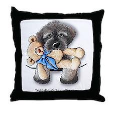 Pocket Wookie Schnoodle w/Bear Throw Pillow