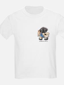 Pocket Wookie Schnoodle w/Bear Kids T-Shirt