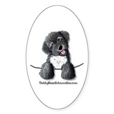 Pocket Black Schnoodle Oval Decal