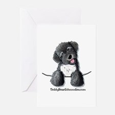 Pocket Black Schnoodle Greeting Cards (Package of