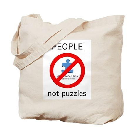 Autism: People, Not Puzzles Tote Bag