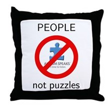 Autism: People, Not Puzzles Throw Pillow