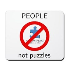 Autism: People, Not Puzzles Mousepad