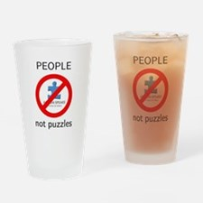 Autism: People, Not Puzzles Drinking Glass