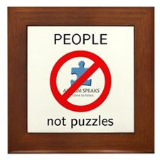 Autism: People, Not Puzzles Framed Tile