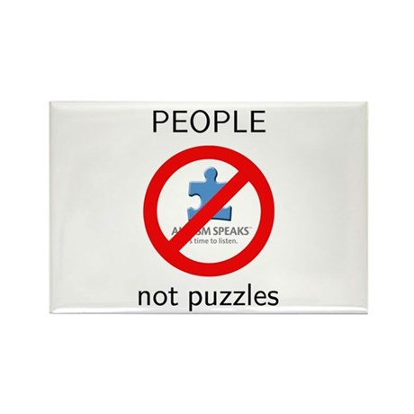 Autism: People, Not Puzzles Rectangle Magnet