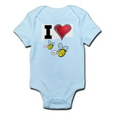 I Love Boo Bees Infant Bodysuit