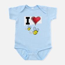 I Love Boo Bees Infant Bodysuit