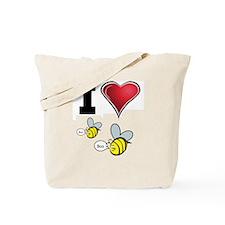 I Love Boo Bees Tote Bag