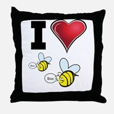 I Love Boo Bees Throw Pillow