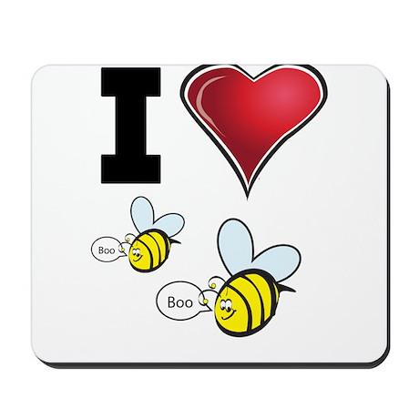 I Love Boo Bees Mousepad