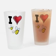 I Love Boo Bees Drinking Glass