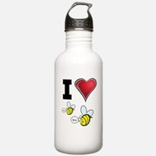I Love Boo Bees Water Bottle