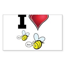 I Love Boo Bees Decal