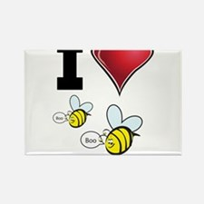 I Love Boo Bees Rectangle Magnet