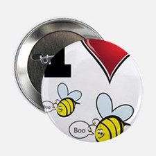 """I Love Boo Bees 2.25"""" Button"""
