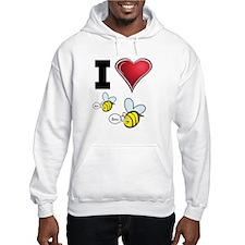 I Love Boo Bees Hoodie