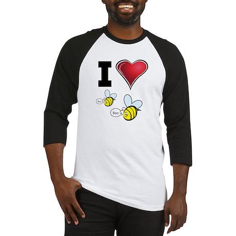 I Love Boo Bees Baseball Jersey