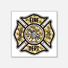 "firedept2 copy.png Square Sticker 3"" x 3"""