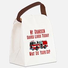 savedlivesfiregrandson.png Canvas Lunch Bag