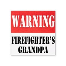 "dangersignFFgrandpa.png Square Sticker 3"" x 3"""