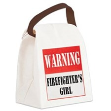 dangersignFFgirl.png Canvas Lunch Bag