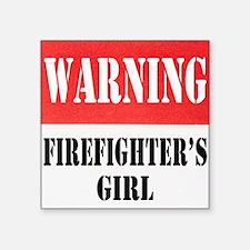 "dangersignFFgirl.png Square Sticker 3"" x 3"""