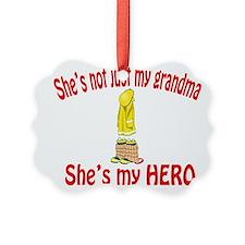 not just my grandma fire.png Ornament