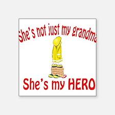 "not just my grandma fire.png Square Sticker 3"" x 3"