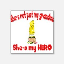 """not just my grandma hearts52.png Square Sticker 3"""""""
