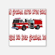 "savedlivesfiregrandma.png Square Sticker 3"" x 3"""