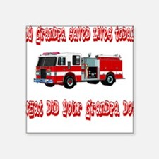 "savedlivesfiregrandpa.png Square Sticker 3"" x 3"""