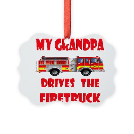 drivesfiretruckgrandpa.png Picture Ornament