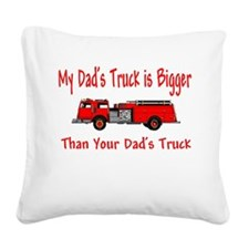 firebiggertruck.JPG Square Canvas Pillow