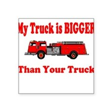 "biggertruck.JPG Square Sticker 3"" x 3"""