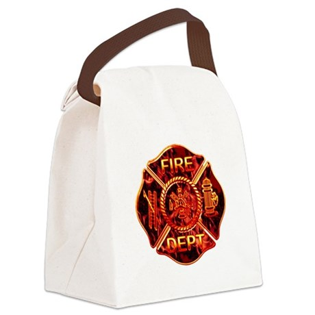 red flame maltese copy.png Canvas Lunch Bag