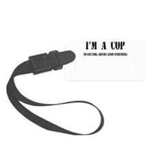 Im a cop black.png Luggage Tag
