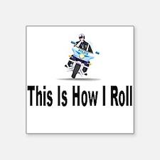 "bike_tiltTP.png Square Sticker 3"" x 3"""