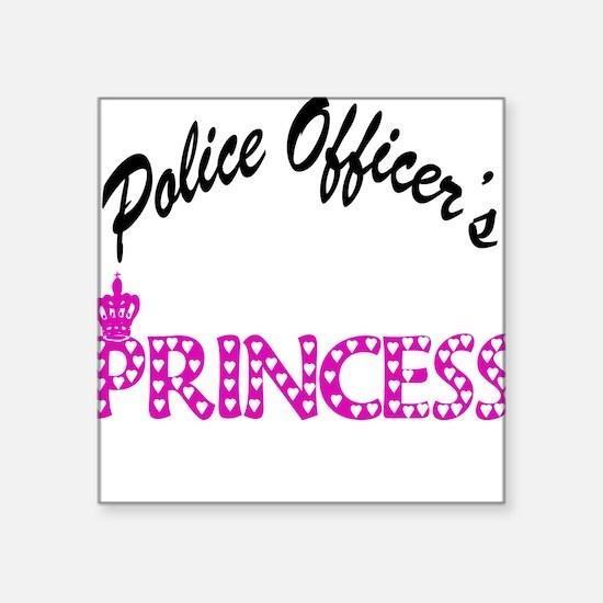 "3-policeprincess copy.png Square Sticker 3"" x 3"""