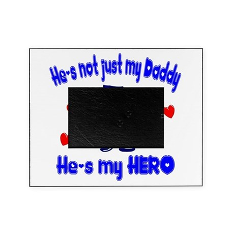 not just my daddy hearts police.png Picture Frame