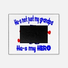 not just my grandpa hearts police.png Picture Frame