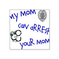 "Cool Police woman Square Sticker 3"" x 3"""