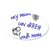 Cool Police Oval Car Magnet