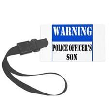 dangersignpoliceson.png Luggage Tag
