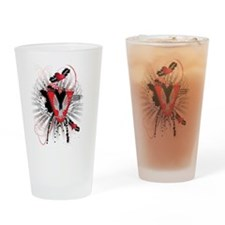 V3 graphic design Drinking Glass