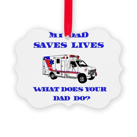 saveslivesambulanceDad.png Picture Ornament