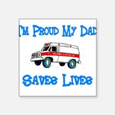 "Cute Star of life Square Sticker 3"" x 3"""