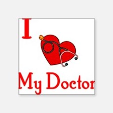 "heartdoctor.JPG Square Sticker 3"" x 3"""