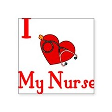 "heartnurse.JPG Square Sticker 3"" x 3"""