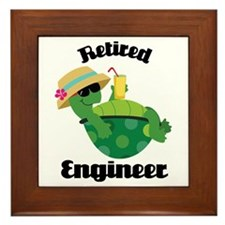Retired Engineer Gift Framed Tile
